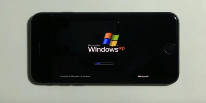 Hacker consegue rodar windows xp em Iphone 7