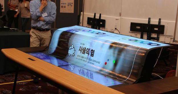 Lg anuncia tela Oled de 77 polegadas flexível e transparente