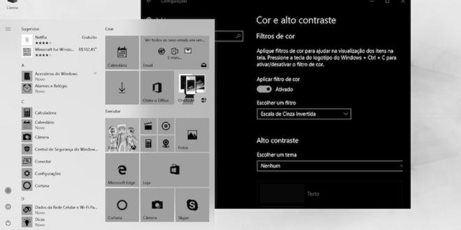 Saiba como usar filtros de tela por cor no windows 10