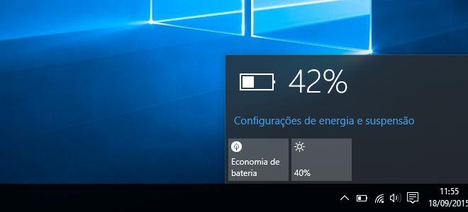 Aprenda a economizar bateria do seu notebook com Windows 10