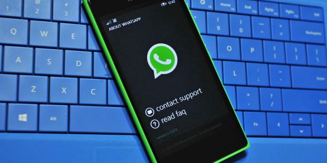 Whatsapp será descontinuado no windows phone a partir de 31 de dezembro